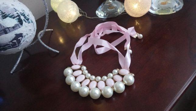 Naszyjnik ZARA perły kolia z perłami piękny nowy