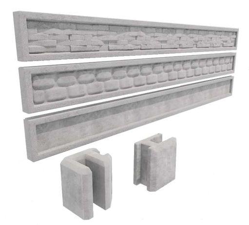 Podmurówka betonowa Ogrodzenie panelowe montaż brama przesuwna panele