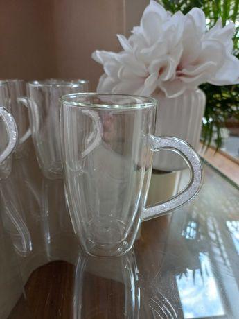Szklanki termiczne z uchem 300 ml 5 sztuk do kawy herbaty