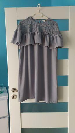 Szara sukienka h&m rozmiar 44
