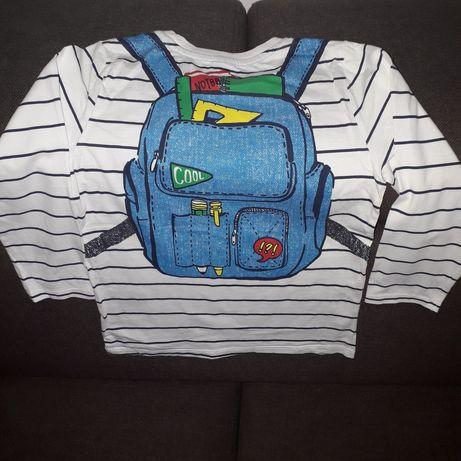 Bluzeczka z plecakiem r.122