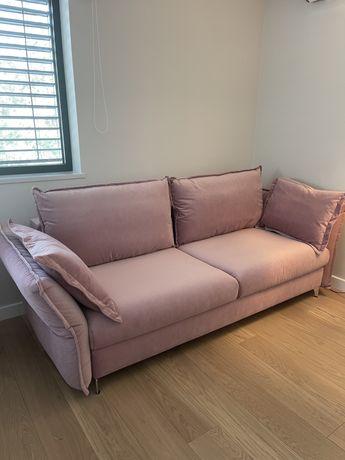 Sofa Carmen Pudrowy Róż  Bellagio Nowa