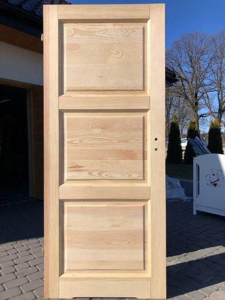 Drzwi lite drewniane sosnowe wewnętrzne ms-6 od ręki