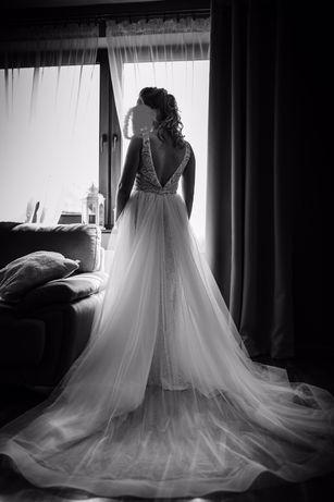 Suknia ślubna 2w1 kolor Champagne
