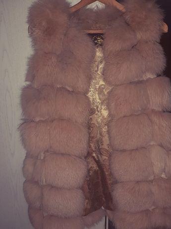 Меховая жилетка песцовая(писец)