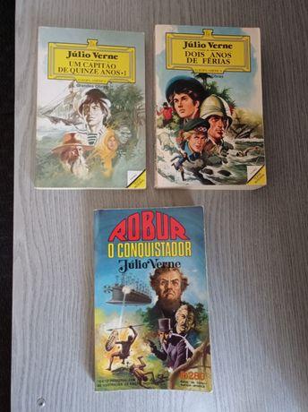 3 livros do Júlio Verne.  Europa - América.