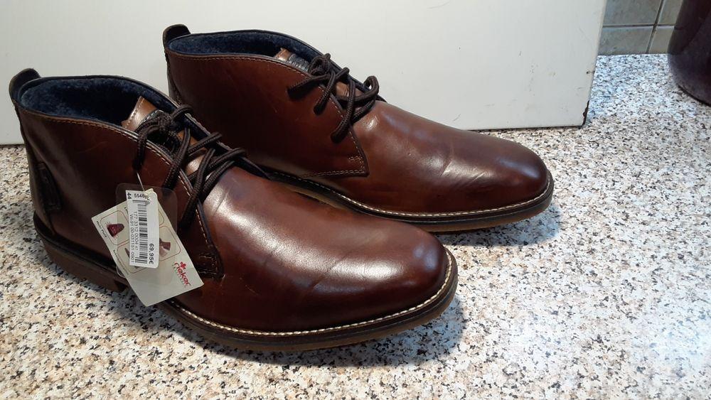 Чоловічі шкіряні  черевики Rieker 44( мужские ботинки Rieker) Львов - изображение 1