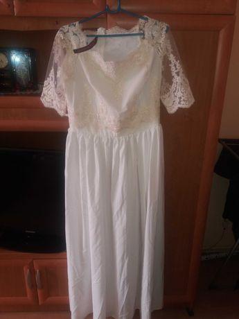 Nowa Biala suknia r 44