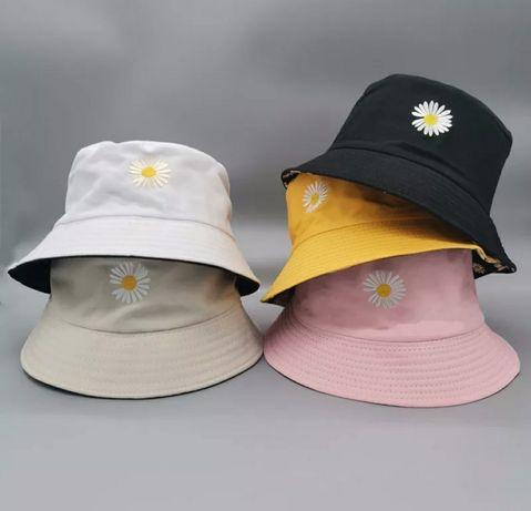 Панама двухсторонняя однотонная панамка женская шляпа шапка бини