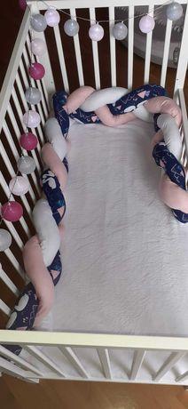 Ochraniacz warkocz do łóżeczka 250 cm, TANIO