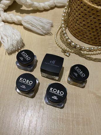 Пигменты для макияжа «KODO» i «ELF».