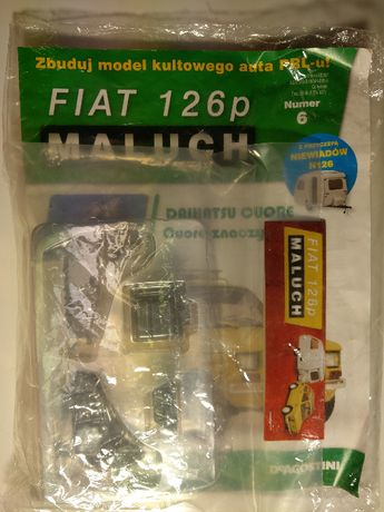 Kolekcja Deagostini Metalowy Model FIATA 126p z przyczepą nr: 6