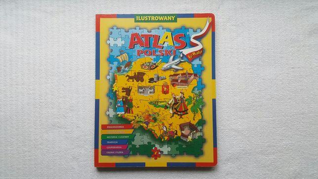 Ilustrowany ATLAS POLSKI - 6x PUZZLE