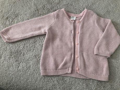 Sweter różowy h&m r80