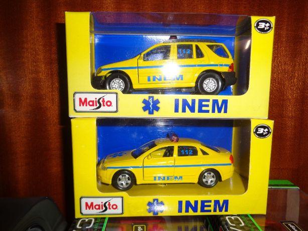 Miniatura Carrinha do Inem da Maisto 1/43 e Carro.