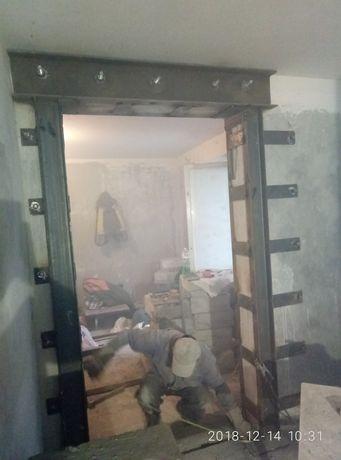 Проёмы Алмазная резка проёмов  бетона Расширение окон дверей Демонтаж
