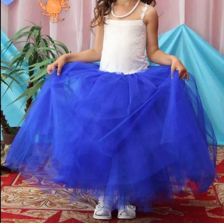 Платье детское синее праздничное