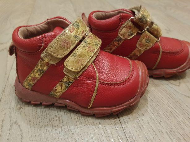 Кожаные ботинки 21 размер 13 см