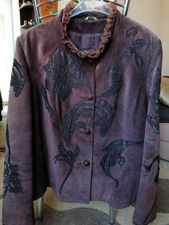 Итальянская замшевая куртка-пиджак To Be 52-54р. ИДЕАЛЬНАЯ!!!