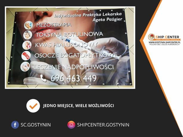BANER REKLAMOWY + Projekt w Ship Center Gostynin