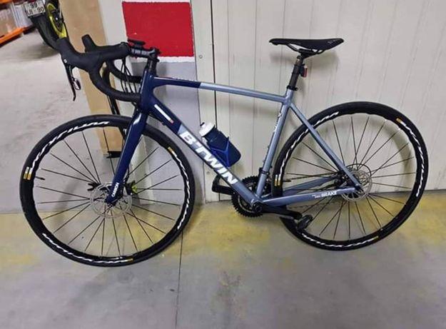 Bicicleta estrada/gravel travões de disco