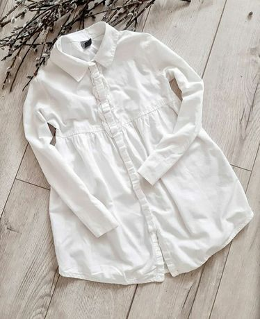 Біла рубашка на дівчинку