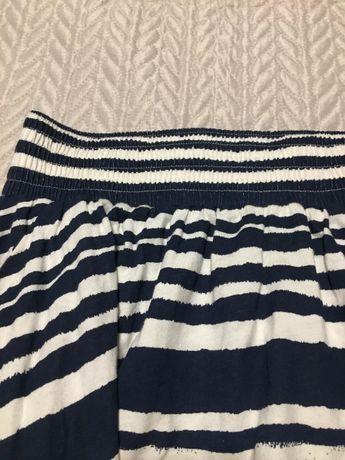 Spódnica krótka H&M rozmiar S w paski, biało-granatowa