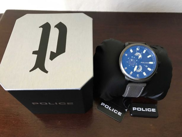 (Original/Novo) Relógio Police Cinzento & Preto