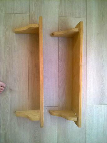 2 sosnowe półki z podpórkami (cena za 2 szt.) Kabaty