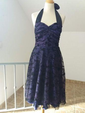 Vestido roxo e preto estilo gótico XS S e M