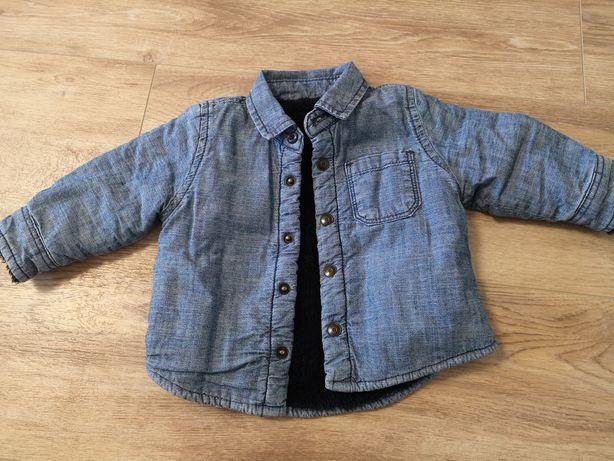 Куртка на весну, меховая, тёплая, демисезонная 62-68