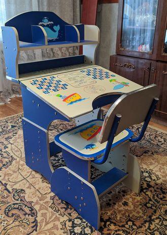 Новая стол-парта со стульчиком Bambini
