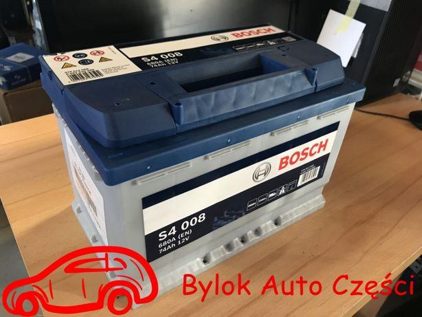 """AKUMULATOR 74AH/680A """"Bosch"""" NOWY!!! Bylok Auto Części Gliwice Zabrze"""