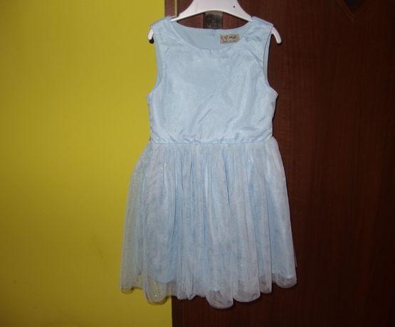 Next tiulowa dziewczęca sukienka dziecięca na wesele 98 cm 3 lata