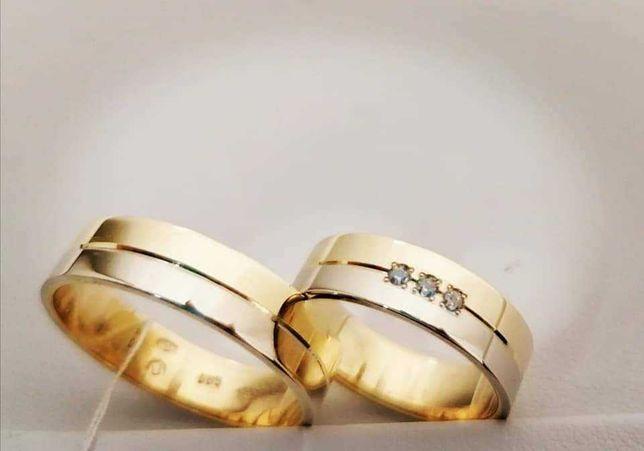 Obraczki ślubne złote próba 585