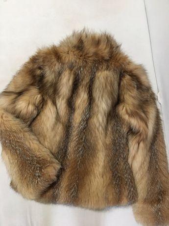 Натуральная шуба.шубка из меха.полушубок.куртка зимняя.лиса