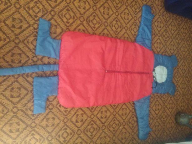 детский спальный мешок с рукавами