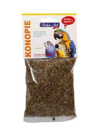 Dako-Art. Konopie dla papug i ptaków egzotycznych. 100 g