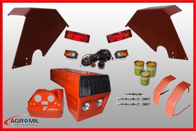 Maska metalowa nowy typ do ciągnika Ursus C-360 komplet błotniki