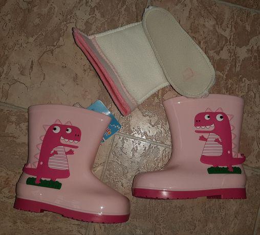 Резиновые сапоги для девочки,новые, 26 размер
