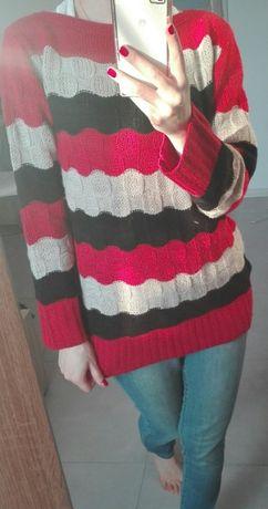Kolorowy sweter 38