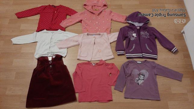 Ubrania dla dziewczynki roz 86