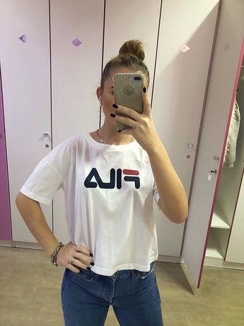 Белая футболка FILA оригинал