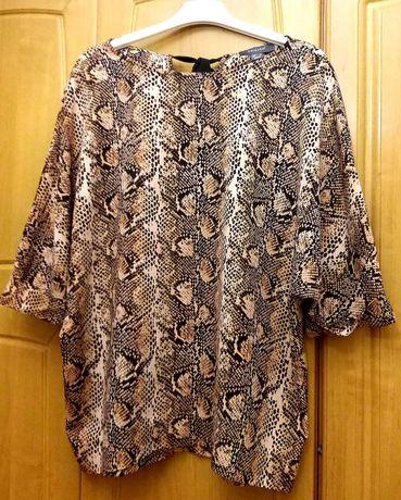 Bluzka oversize panterka lejacy materiał Primark roz 40 -42