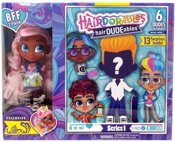 Набор кукол Hairdorables bff мальчик и девочка Willow, Dee Dee