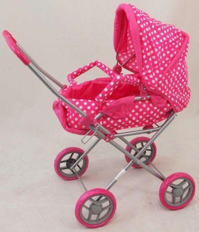 Wózek dla lalek 2w1 solidny metalowy do domu i do parku BabyMix