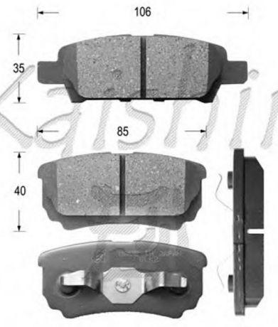 Колодки тормозные дисковые D6124