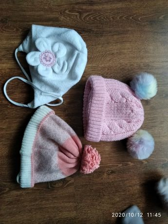 Czapki zimowe dla dziewczynki