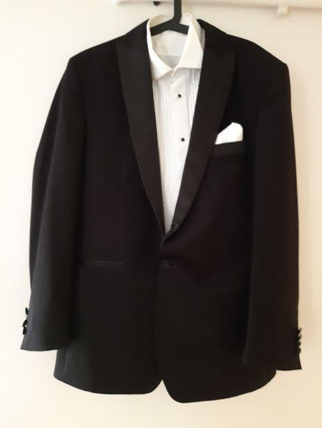 Klasyczny, elegancki smoking + koszula