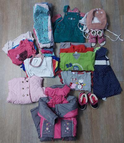Zestaw ubranek dla dziewczynki 74-86
